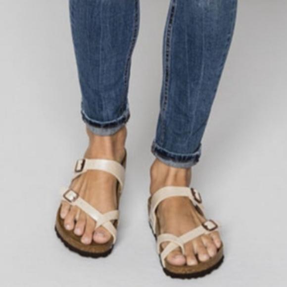b2e94b060f2b Birkenstock Shoes - Birkenstock Pearl White Mayari Birko-Flor Sandals